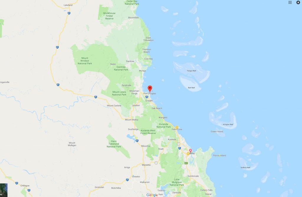 Port Douglas map